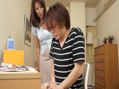 Handjob, Mom, Double handjob