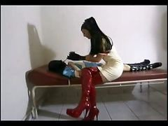 Slave, Fnm post orgasm torture tied