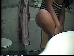 Black, Ass, Hidden, Thong, Hidden shower