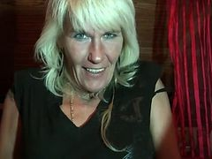 Granny, Blonde, Hairy, German, Mature, Renatab german hairy