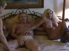 Bus, Blonde, Threesome, Mature, Busty hot matural hardcore orgy