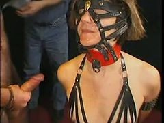 Bukkake, French, Slave, Hot french slave