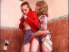 Bath, Bathroom, Lesbian, Matures teacher bathroom
