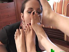 Lesbian, French granny crule mistress foot domination