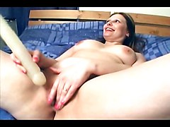 Chubby, Lesbian, Girlfriend, Fat, Wife plays with her pussy