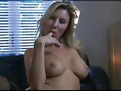 Blonde, British, Milf stocking anal