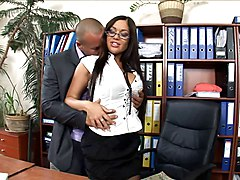 Office, Heels, Stockings, Secretary, Maria ozawa office secretary