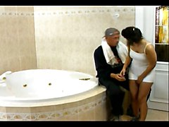 Gangbang, Bath, Women piss in own face compilation