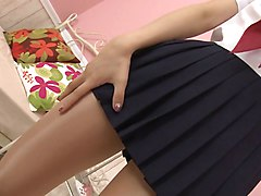 Panties, Pantyhose, Asian mom in pantyhose getting rapped
