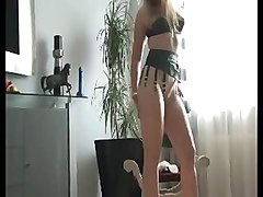 French, Heels, Stockings, German busty blond