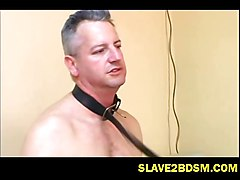 Slave, Gay slave humiliated slap spit piss feet