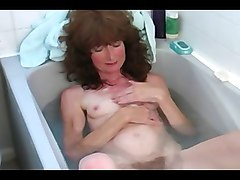 Hairy, Bath, Cum bath mature