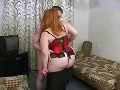 Mom, Russian, Bbw, Fat, Mature, Sleeping mom anal by her son