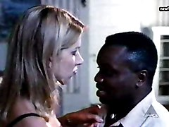 Blonde, Black, Interracial, Two girls sucking black dick