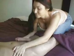 Blowjob, Handjob, Cum in mouth creampie