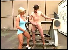 German, Slave, Outdoor, German slave lick