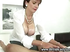 Mature handjob with cumshot
