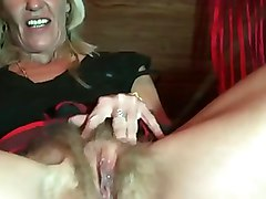 Hairy, German, German hairy skinny mature masturbation