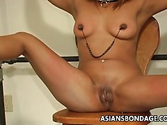 Slave, Japanese mistress rides cock uncensored