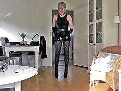 Leather, Cuckold pov sissy humiliation