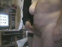 Amateur, British, Big Tits, Mature, British mature in brown stockings