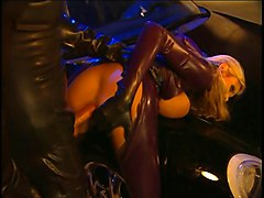 Anal, Bus, Blonde, Latex, Latex anal double