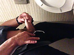 Masturbation, Jerking, Public, Oil, Toilet, Gay jerk in public
