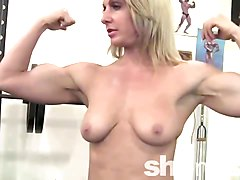 Blonde, Gym, Melissa doll gym training