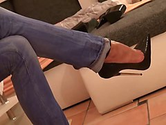 Jeans, Heels, Tight, High heel blowjob