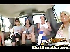 Bus, Filthy whore claudia adkins gets gang banged