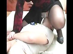 Russian, Big black mom fuck son in her kitchen