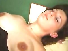 French, Nine months pregnant slut fucking with young boy