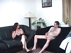 Humiliation, Big tit threesome girls enjoys teasing and