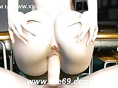 3D, 3d hentai blowjob and titjob