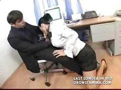 Blowjob, Secretary, Maid seduce and fuck her boss