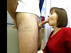 Russian, Mature blowjob eager swallow