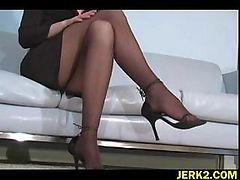 Office, Stockings, Ripping stockings