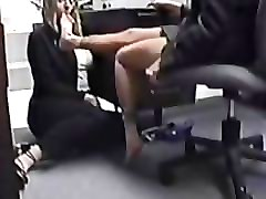 Secretary, Mature feet nylon job