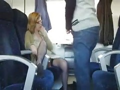 Bus, Public, Milf, Train, Fucked in bus infront of