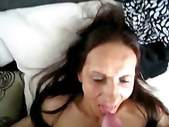 Amateur, Funny blowjob granny cum in mouth