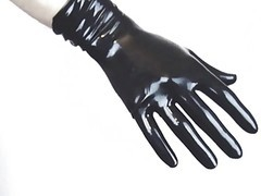 Panties, Latex, Gloves, Tight, Latex dildo solo