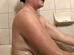 Bath, Son fuck mature in the bath room