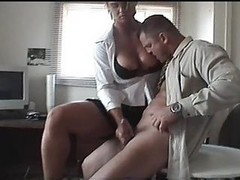Handjob, Office, Dirty talk handjob
