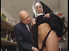 Nun, Old Man, Milf nun