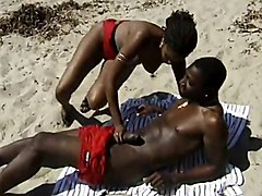Hairy, Black, Beach, Milf, Big black booty playing with wet pussy moan