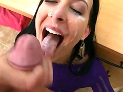 Facial, Milf, Hairy milf facial