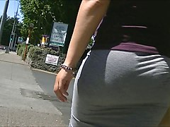Tight, Big ass in tight skirt