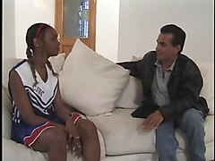 Ebony, Cheerleader, French black ebony anal