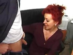 Office, Stockings office mom fuck son