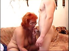 Redhead, Hot moms and grunny fucking son